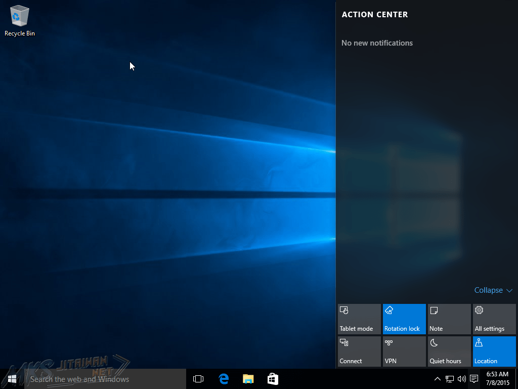 Windows 10 Table
